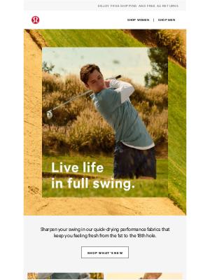 lululemon (AU) - Did someone say golfing season?