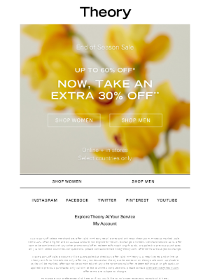 Sale on Sale: Up to 60% Off + Extra 30% Off