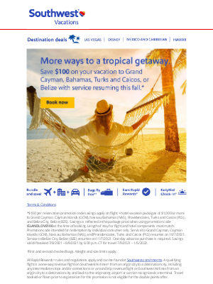 Southwest Vacations - More ways to travel, more ways to save
