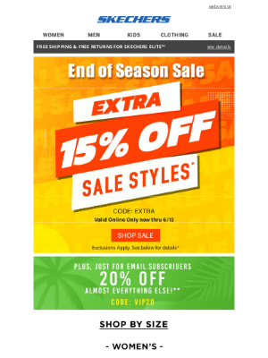 SKECHERS - Special Email Only Offer enclosed...