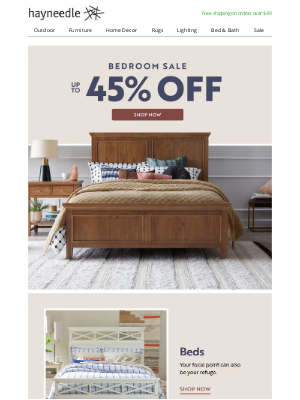 Hayneedle - Everything your bedroom needs, for less.