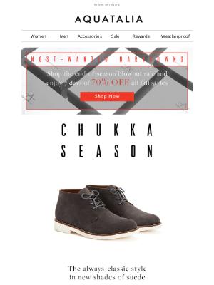 Aquatalia - New Arrivals | The Essential Chukka | Markdowns 70% off
