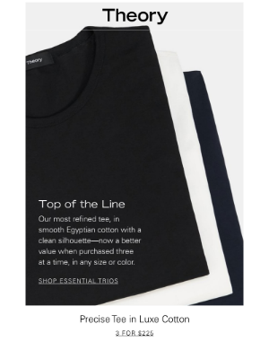 Essential Trios: Our Most Polished Men's Tee for Less