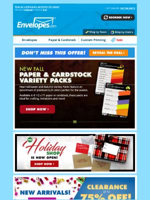 Envelopes.com - 🍁NEW: Paper & Cardstock Variety Packs for Fall!
