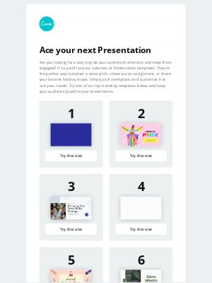 Canva - The US - Top 10 Presentation templates