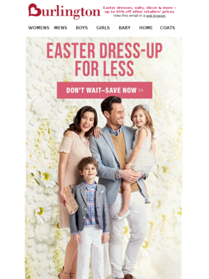 Burlington - Save on Easter Dress-up for the Family