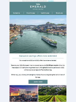 Emerald Waterways - Great news! Exclusive savings offers extended