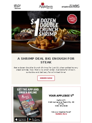 Applebee's - Love a great deal? You'll love this!