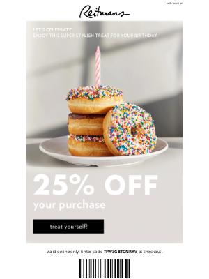 Reitmans (CA) - lorem 🎁 This birthday gift takes the cake!
