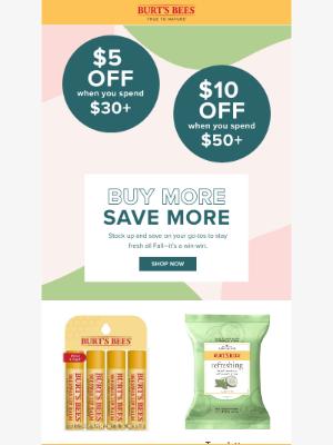 Burt's Bees - 📣Get up to $10 OFF today!