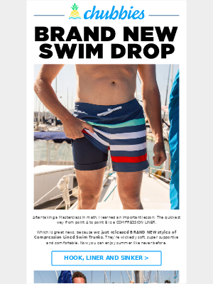 WE'RE UPPING THE SWIM GAME