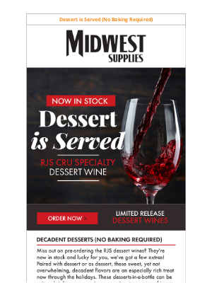 Midwest Supplies - Now in Stock: RJS Cru Specialty Dessert Wines