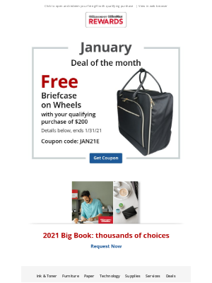 Office Depot & Office Max - Reminder: Your 1st coupon of 2021 is here…