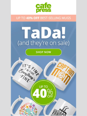 CafePress - Up to 40% Off. Wanna See a Classic Mug Shot?