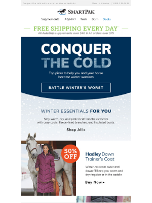 SmartPak Equine - Our Top Picks To Beat The Cold