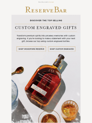 Reserve Bar - Our Top Sellers in Custom Engraved Gifts