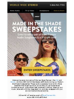 🌞 Enter to win Bose Frames audio sunglasses + new deals this week 😎