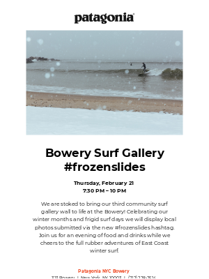 Winter Surf Gallery at the Bowery