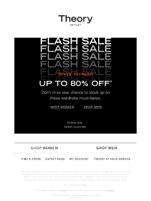Theory - Flash Sale: Up to 80% Off Fresh Styles