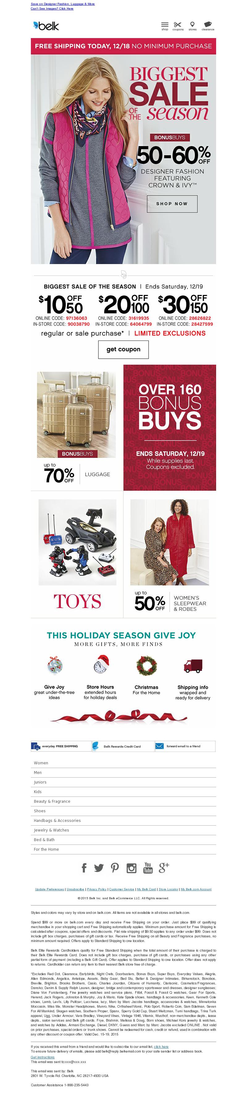 Save on Designer Fashion, Luggage & More Save on Designer Fashion, Luggage