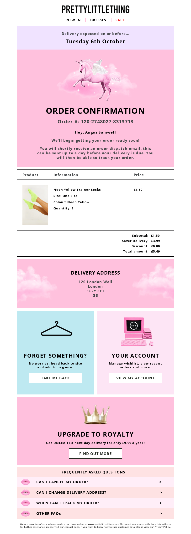 PrettyLittleThing (UK) - Your order confirmation (#120-2748027-8313713)