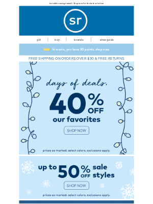 Stride Rite - STARTS NOW: 40% Off Black Friday Sale + FREE Gift