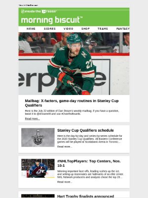 NHL - Your morning league news is here!