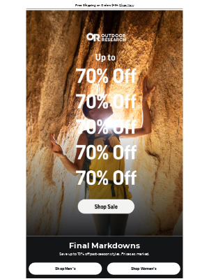 Outdoor Research - Up to 70% off: Final Markdowns