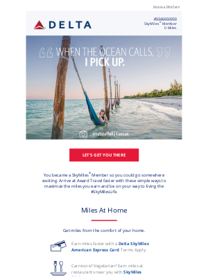 Delta Air Lines - SkyMiles: Earn Miles To See The World