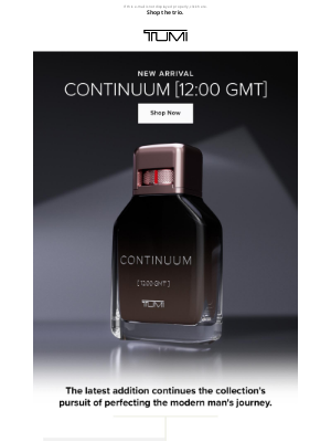 TUMI - Our Newest Fragrance Is Here