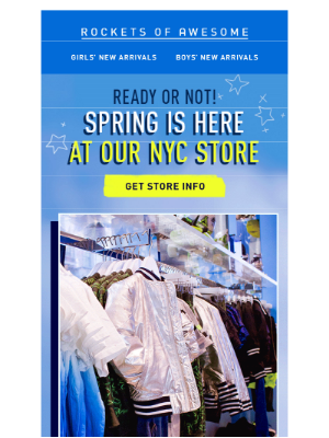 Say hi to Spring at our NYC store!