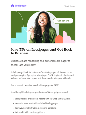 LeadPages - [Limited time] Get 35% off Leadpages