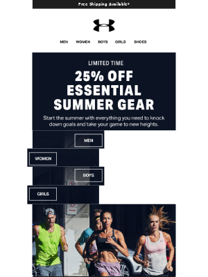 Coming In Hot: 25% Off Shorts, Shoes, Shirts & More
