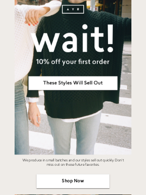 AYR - 10% OFF EVERYTHING