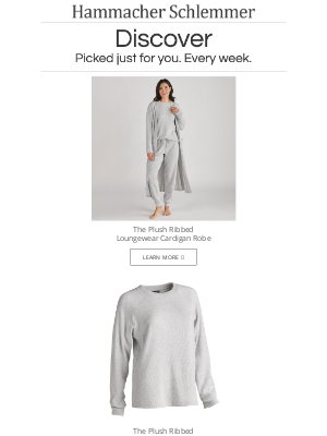 Hammacher Schlemmer - The Plush Ribbed Loungewear Cardigan Robe and More...