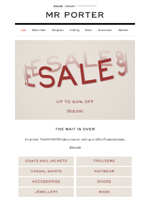 MR PORTER - Let's do this: the MR PORTER Sale is now on