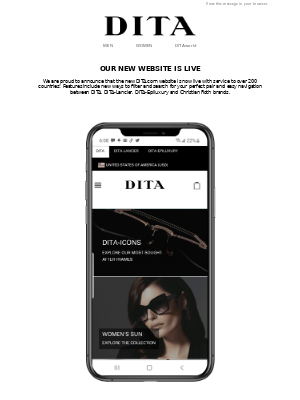 DITA Eyewear - The wait is over, DITA's new and improved website is here!