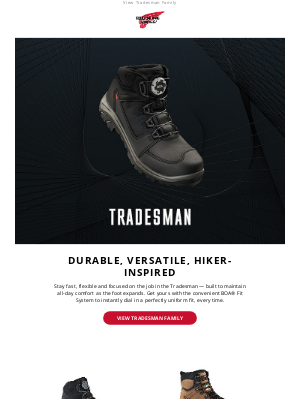 Red Wing Shoes - Tradesman: Versatile, durable hiker available with BOA® Fit System