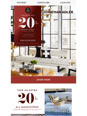 Jonathan Adler - Markdown Moment: 20% Off Already Reduced Styles