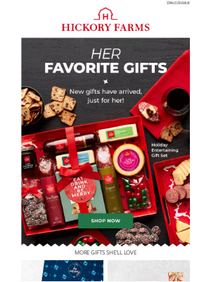 Hickory Farms - Don't have her gift yet? Don't wait...you'll thank us later 🎁