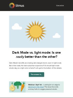 Litmus - Is Dark Mode actually better than light mode?