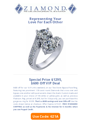 Ziamond - 😍$600 Off Exquisite Bypass😍