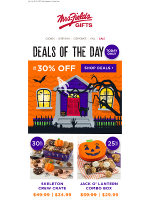 Mrs. Fields - (Delicious) Deals of the Day!