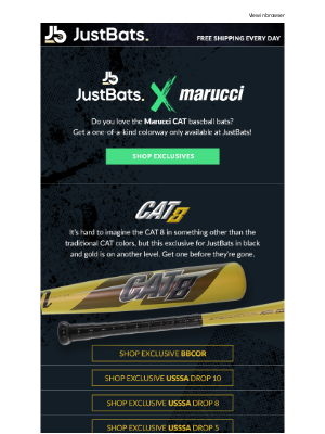 JustBats - JustBats x Marucci Collab   Exclusive Bats