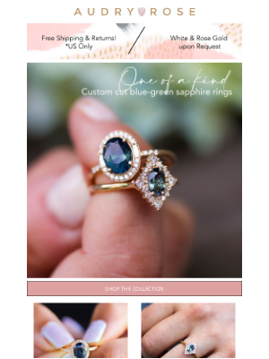 Audry Rose - If You Have A Thing For Teal, These Are The Rings of Your Dreams