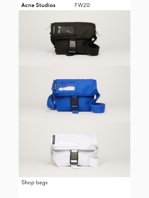 New in bags: Postal inspired messengers & backpacks