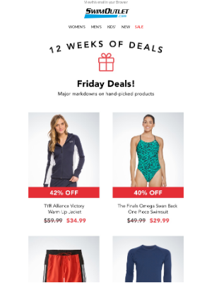 SwimOutlet - 📥Fresh Daily Deals for Friday!