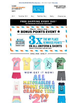 ☀SUMMER IS COMING! $2.99 & UP MATCHABLES & SHORT SLEEVE GRAPHICS!