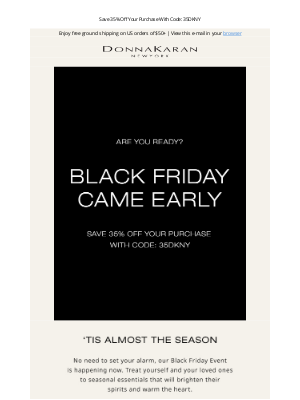 DKNY - Cheers, The Black Friday Event Is Here
