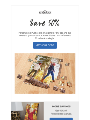 Picaboo - Puzzle Savings Are Here!